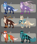 [7$ Adopt batch CLOSED] - Fantasy Wolves