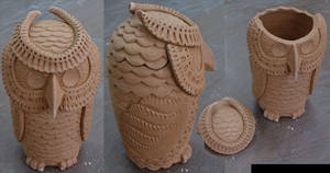 Jar Owl Large