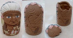 Jar:  Cigar Store Indian (aka Chief Longhorn) by J-Knez