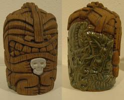 Tiki Cannibal Jar by J-Knez