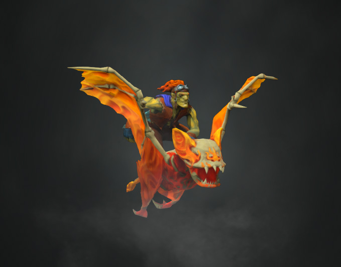 Fyre Bat : Dota 2 batrider Mount by J-Knez