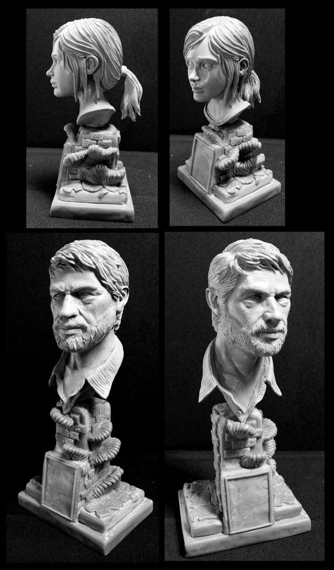 The Last of us Ellie and Joel 1/4 scale bust's by Leebea