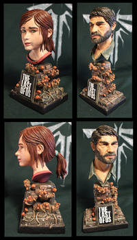 Ellie and Joe The Last of us bust's
