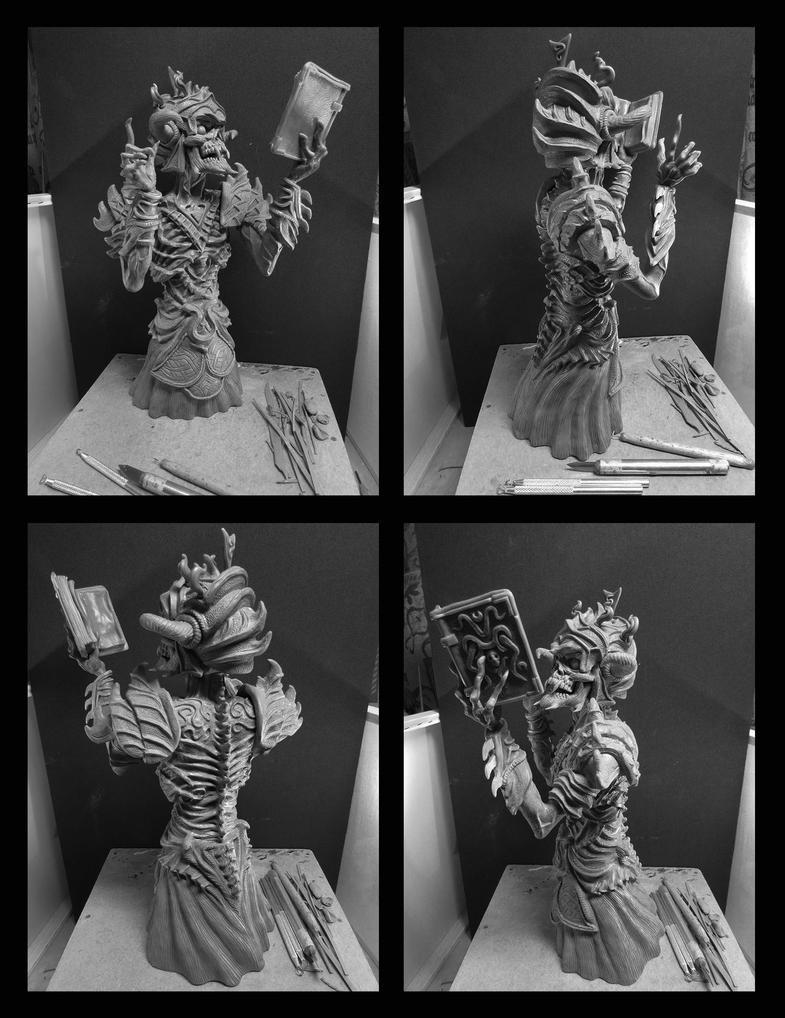 Necromancer sculpture. by Leebea
