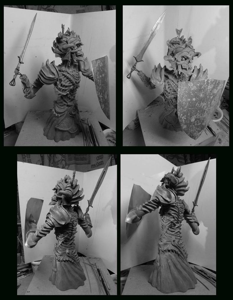 Necromancer sculpture Alternate arms. by Leebea