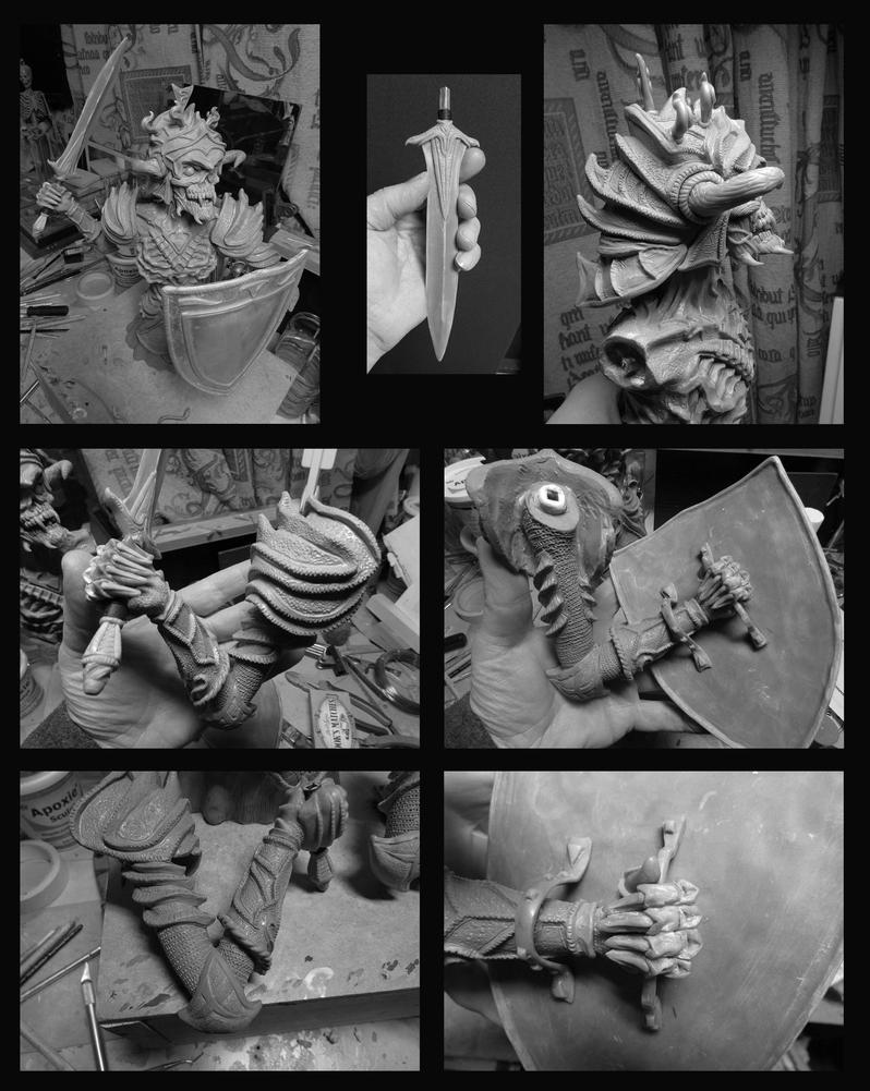 Necromancer sculpture by Leebea