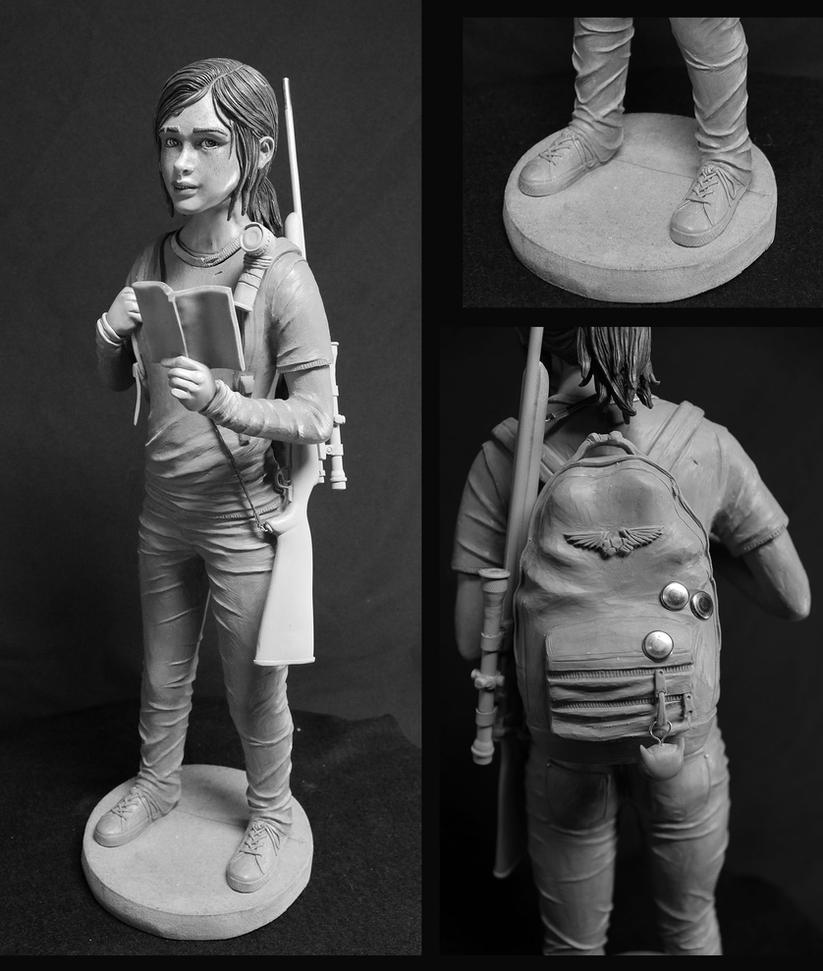 Last of us Ellie quarter scale statue WIP. by Leebea