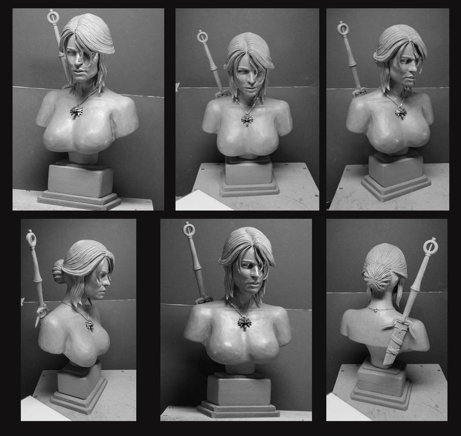 The Witcher 3 Ciri Sculpture. by Leebea