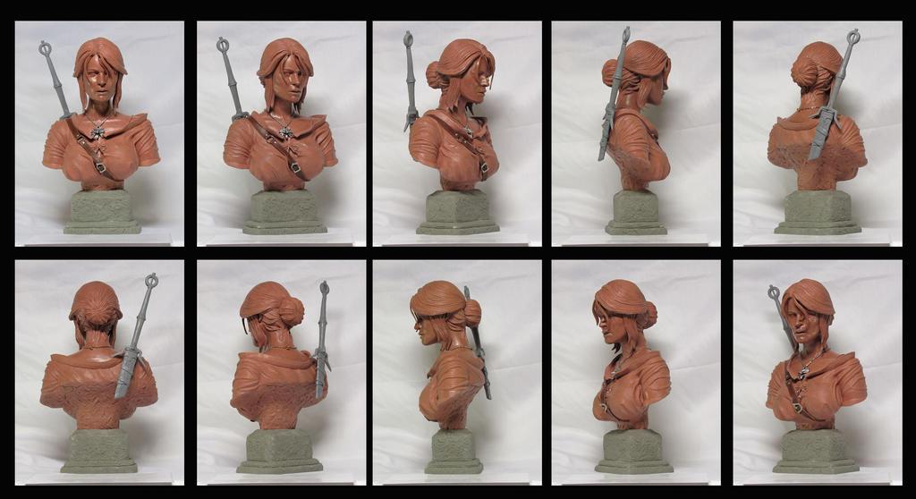 Witcher 3 Wild Hunt Ciri portrait bust by Leebea