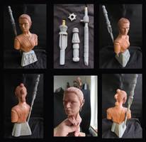 Rey Star Wars Force Awakens Portrait Bust