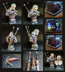 Witcher 3 Geralt 3rd scale bust