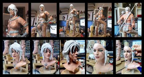 Witcher Ciri statue