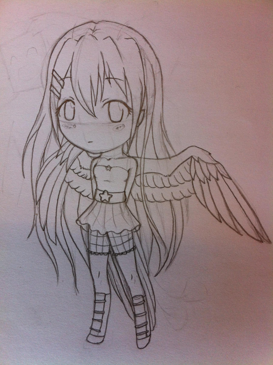 Lil' winged chibi by Sireynia