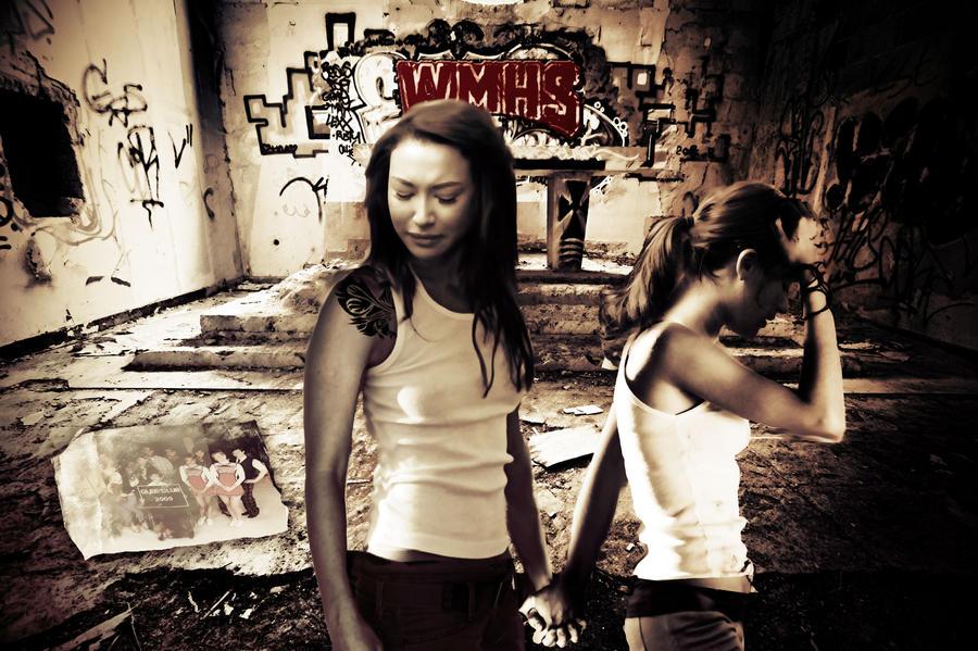Rachel and Santana Apocalypse by mistiec on DeviantArt