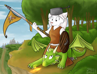 Silver the Dragon Rider by infinitedge2u
