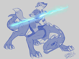 [Commission] Dragon Rider by infinitedge2u