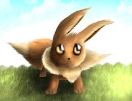 Fluffy, the Eevee by xtotonx