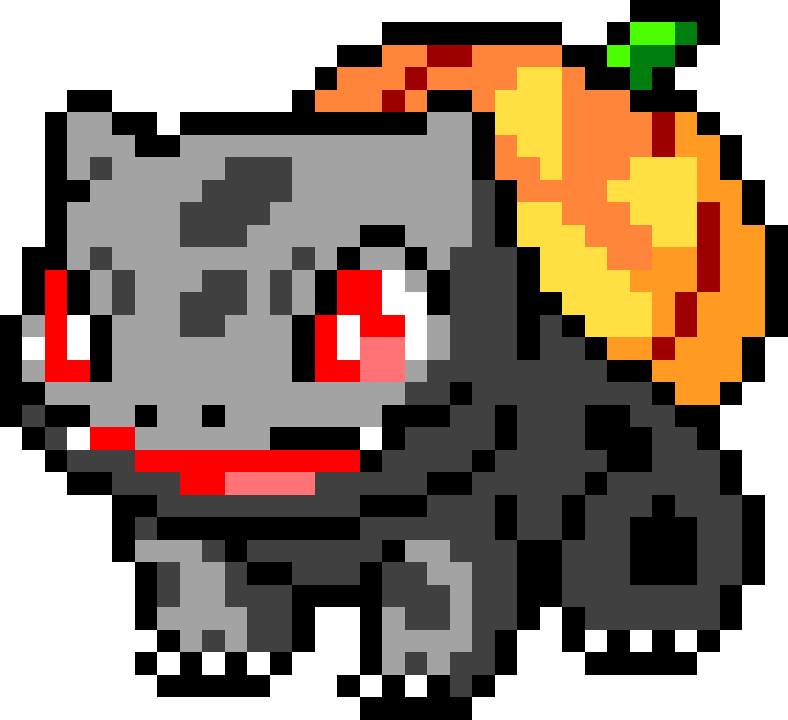 Halloween Bulbasaur pixeled by R3s3t 788x720 by SettiChan on ...