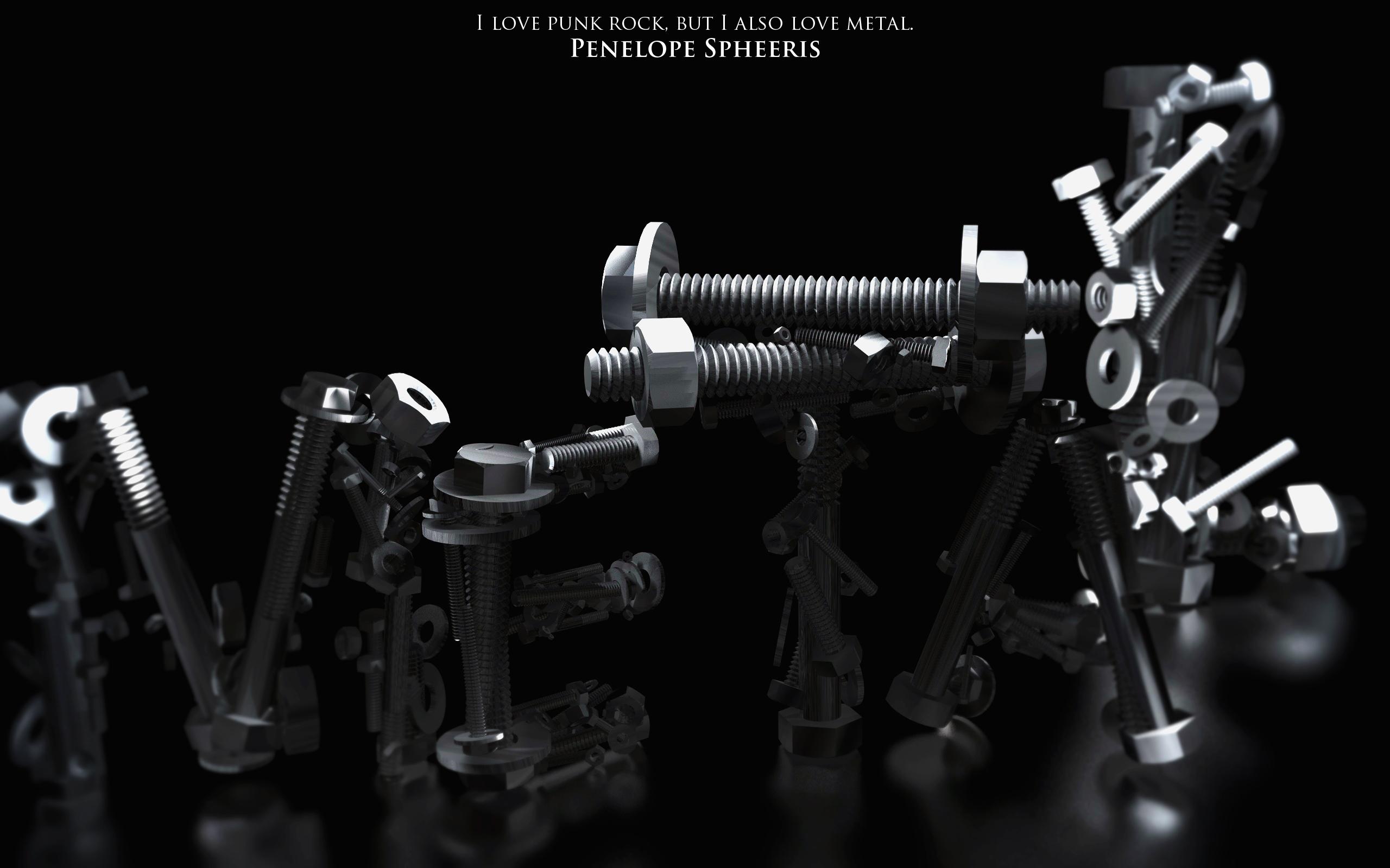 Metal Typography by PhreshSoldier