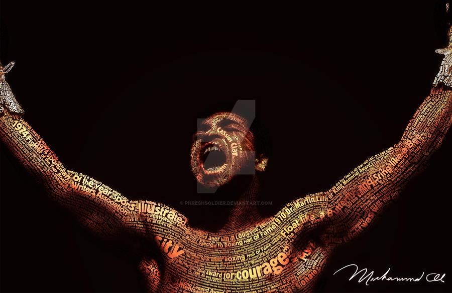 Muhammad Ali Typeface Portrait