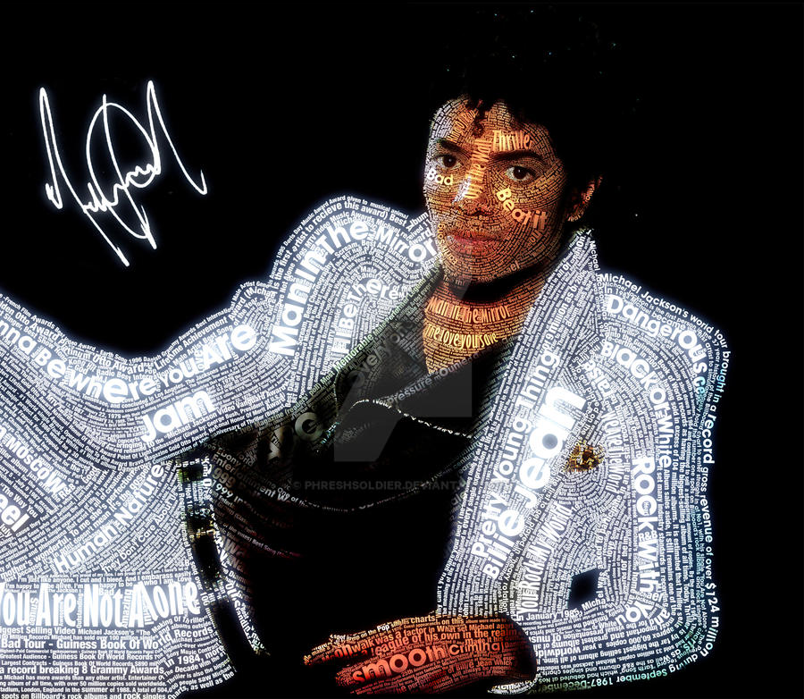 Michael Jackson Typeface by PhreshSoldier