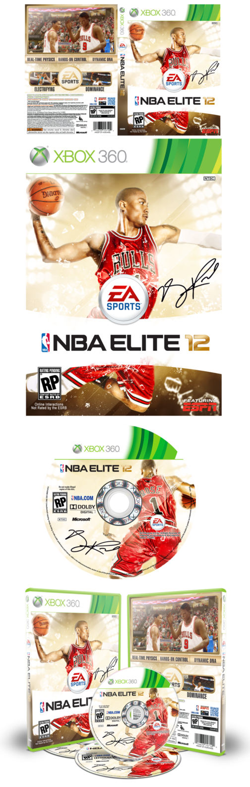NBA Elite 12 - Game Cover by PhreshSoldier