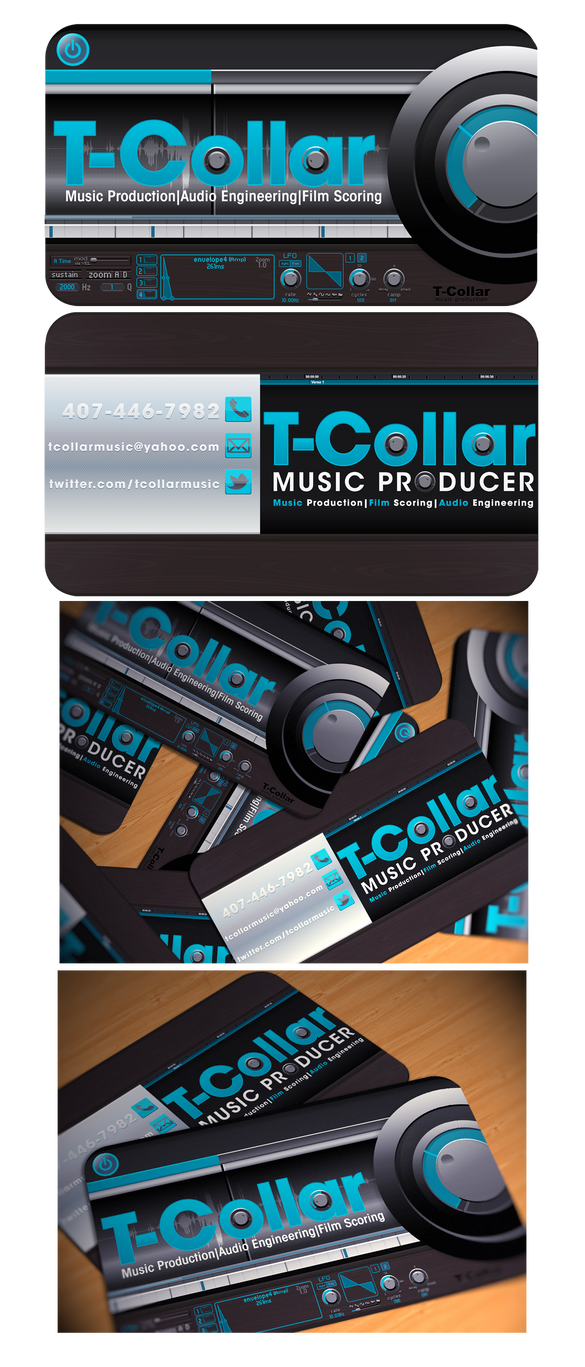 T-Coller Business Card Design by PhreshSoldier
