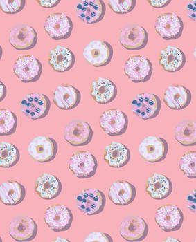 Donuts Pattern pink