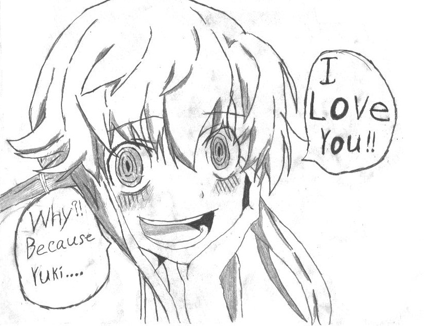 Mirai Nikki Coloring Pages Coloring Coloring Pages