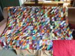 WIP scrap quilt