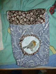 WIP bird bookbag with embroidery by BellaGBear