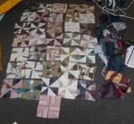 WIP 2 pinwheel quilt
