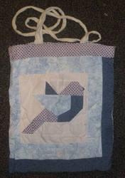 Geometric bird tote bag by BellaGBear
