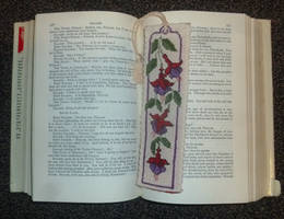Fuchsia bookmark by BellaGBear