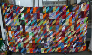 Scrap quilt FINISHED by BellaGBear
