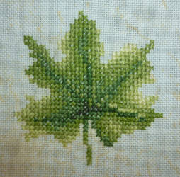 Leave embroidery by BellaGBear
