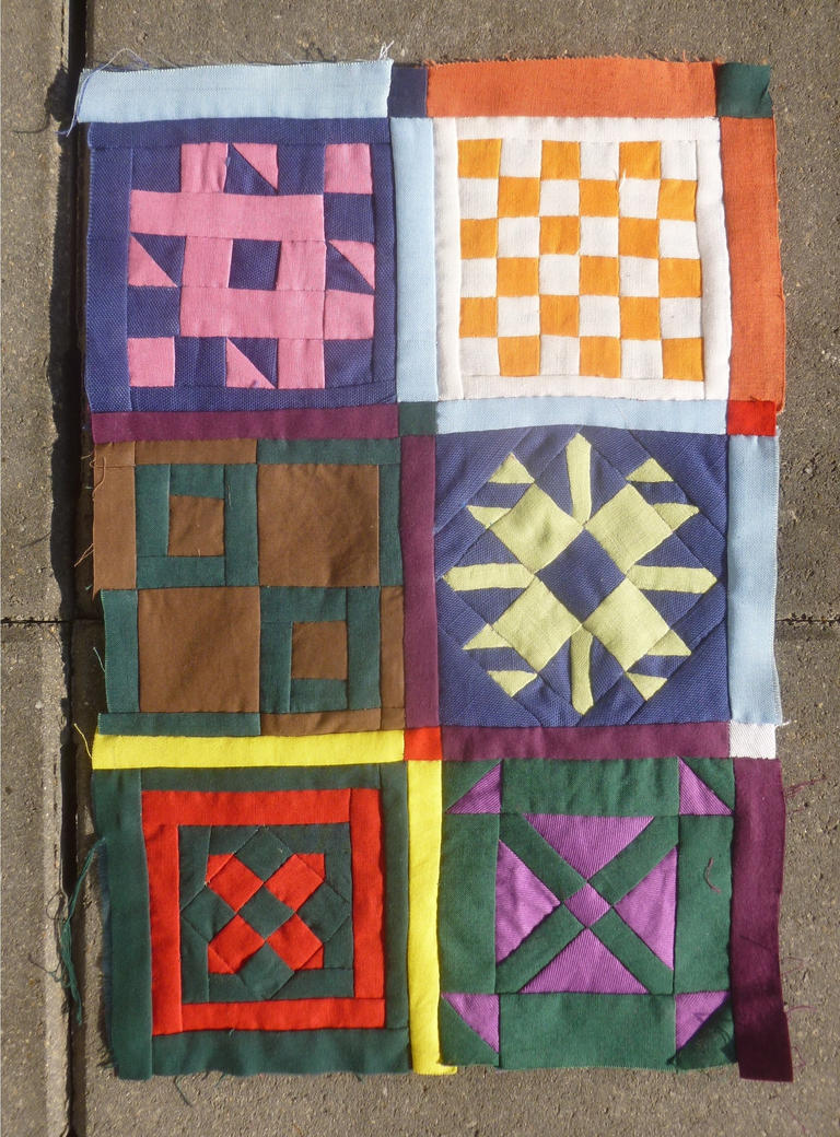 How the Dear Jane quilt turns out by BellaGBear