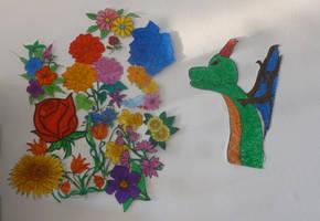 My dragon breaths flowers by BellaGBear