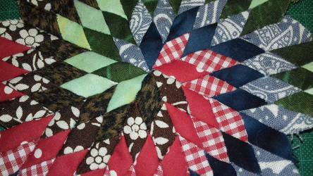Close-up lone star mini quilt