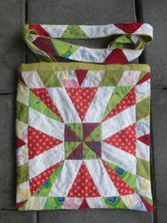 Spring quilted patchwork tote bag by BellaGBear