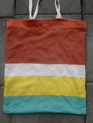 Upcycled beach tote bag