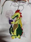 Gus the disco dragon WIP2 by BellaGBear
