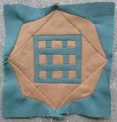 Dear Jane quilt block C-4: Tic tac toe by BellaGBear