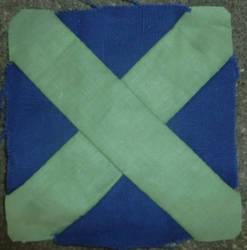 Dear Jane quilt blockJ-4: Adelaine's apron strings by BellaGBear
