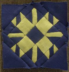 Dear Jane quilt block L-2: Stephanie's snowflake by BellaGBear