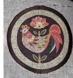 WIP chicken embroidery by BellaGBear