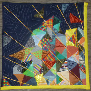 'Look behind the lines' miniature quilt