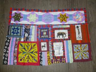 Kenyan quilt WIP 1 by BellaGBear