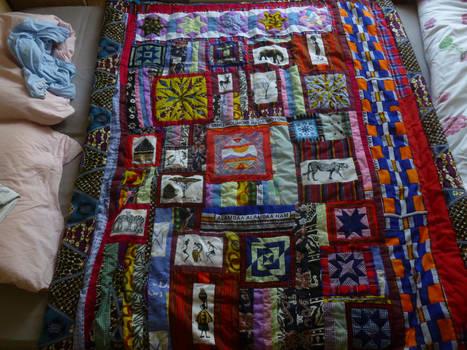 Kenyan quilt top finished