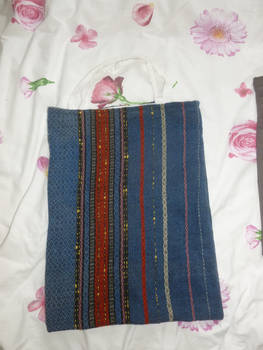 Woven scarf tote bag